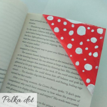 bookmark - polka dot